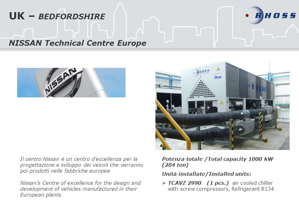 UK – BEDFORDSHIRE NISSAN Technical Centre Europe