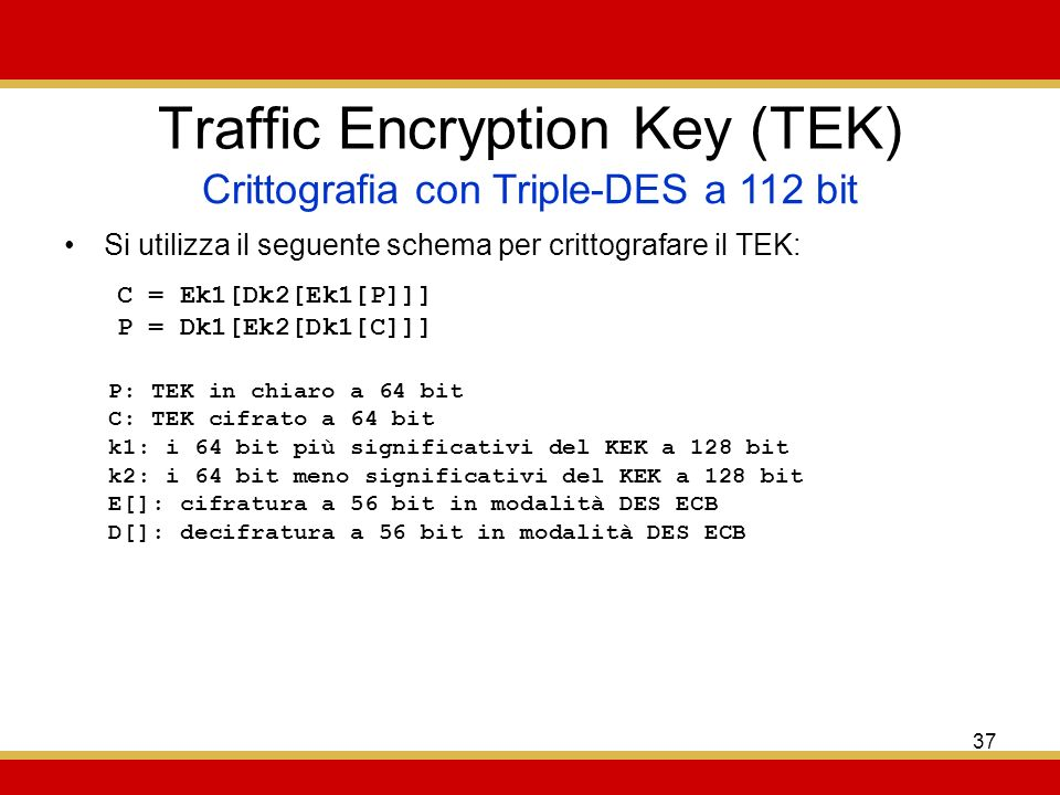Traffic Encryption Key (TEK)