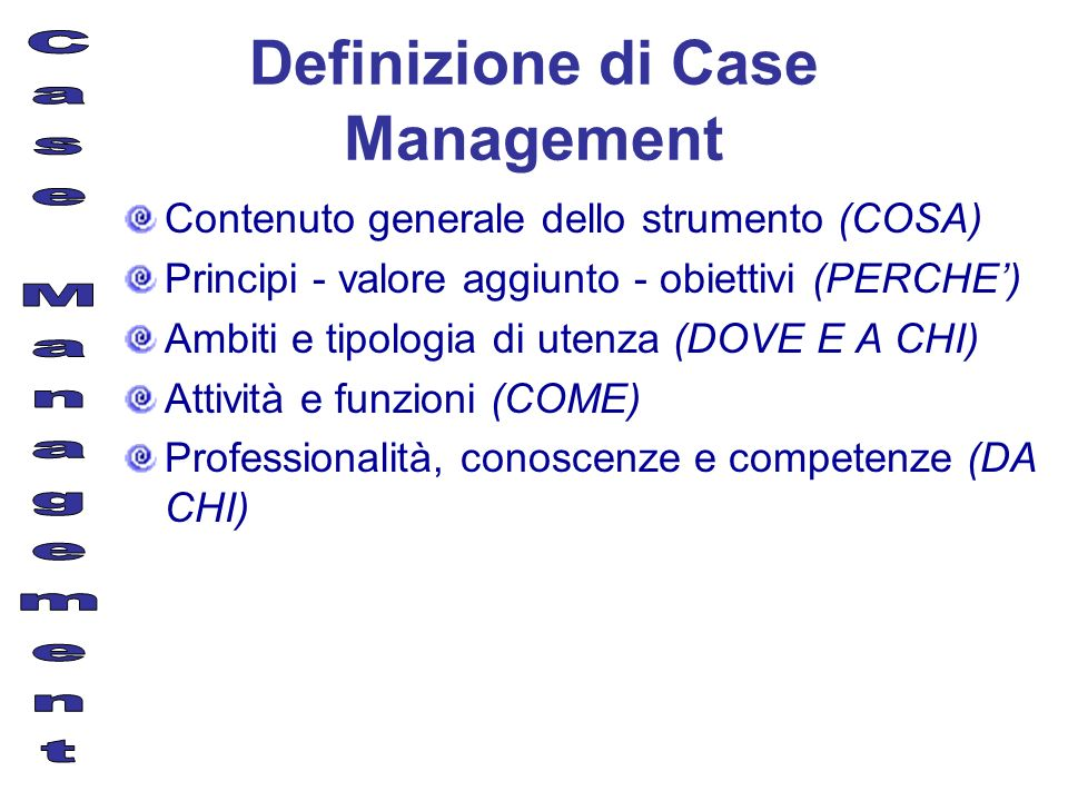 Definizione di Case Management