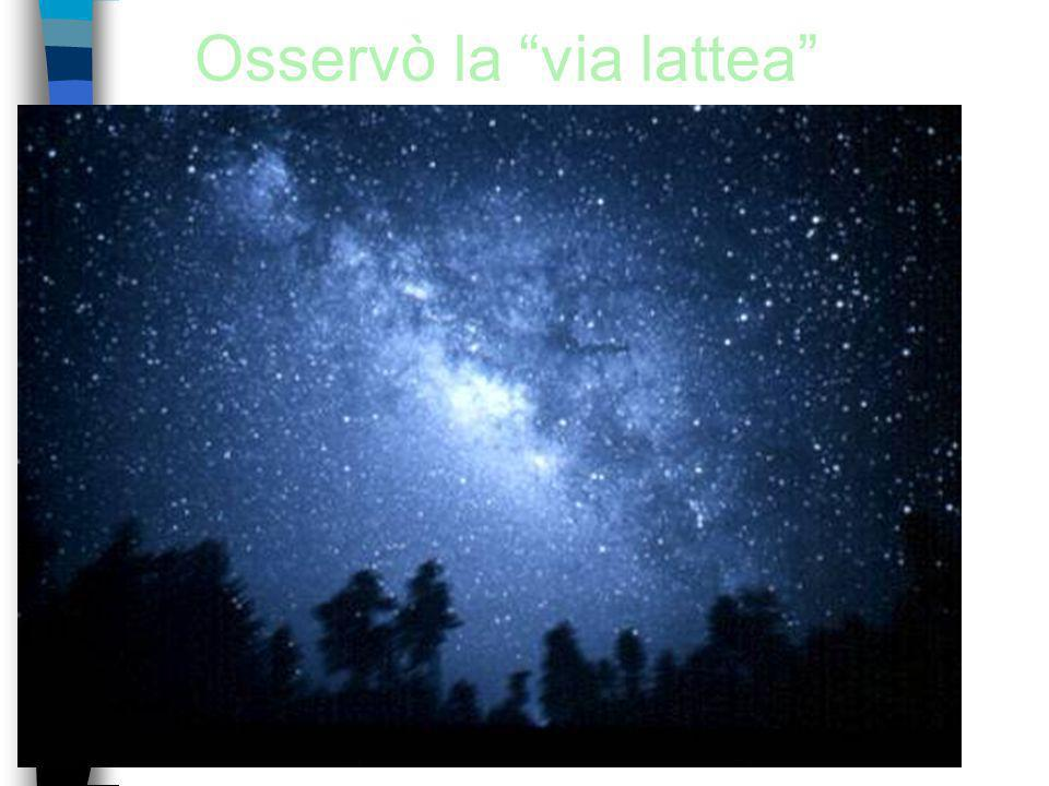 Osservò la via lattea
