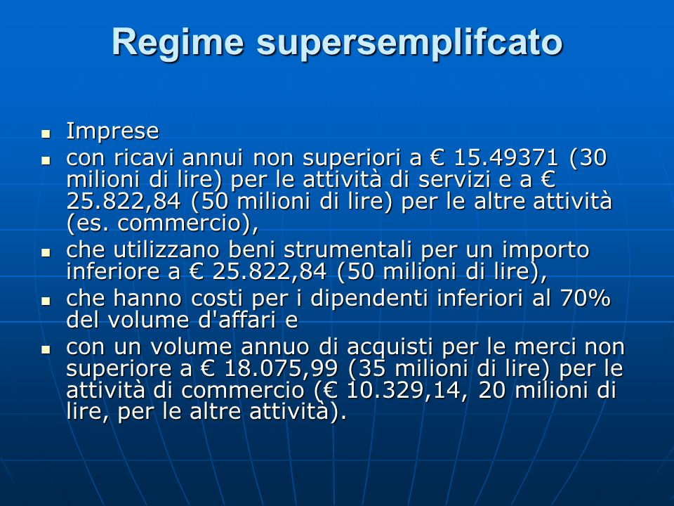 Regime supersemplifcato