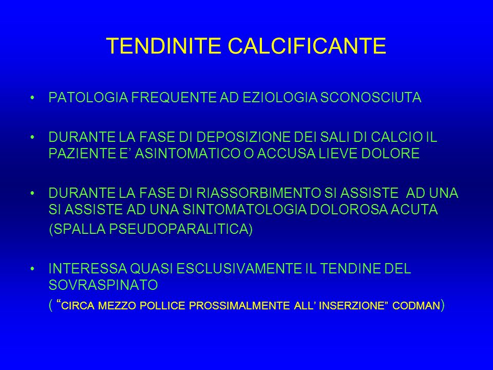 TENDINITE CALCIFICANTE