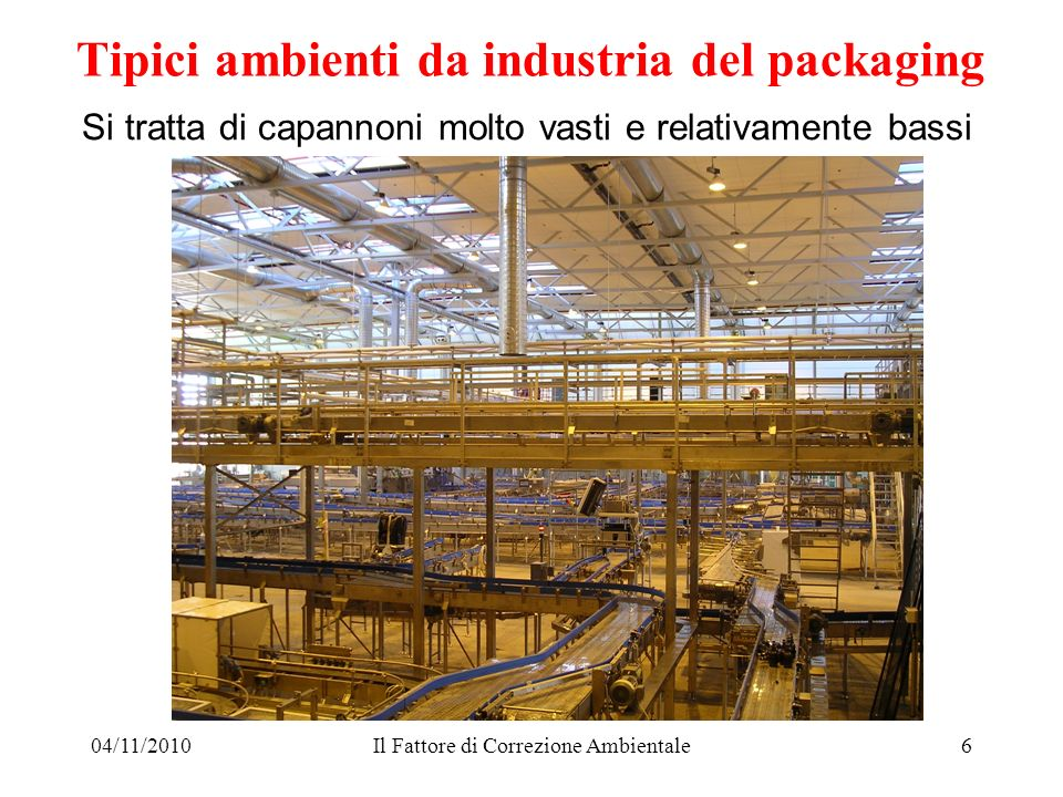Tipici ambienti da industria del packaging