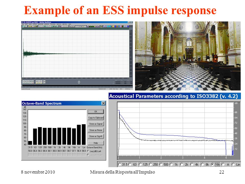 Example of an ESS impulse response