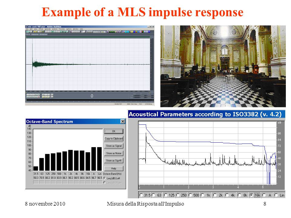 Example of a MLS impulse response