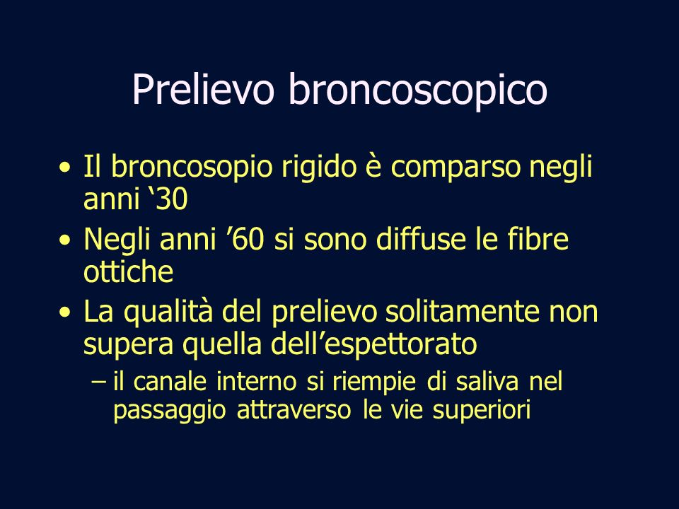 Prelievo broncoscopico