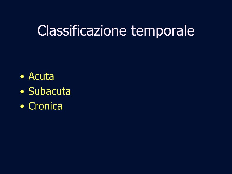 Classificazione temporale