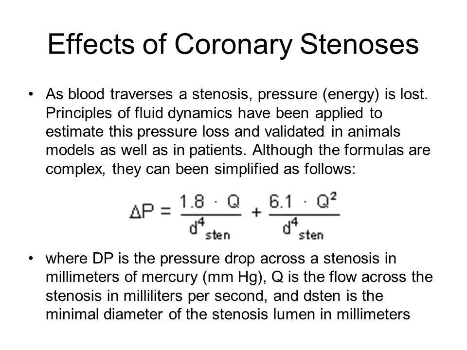 Effects of Coronary Stenoses