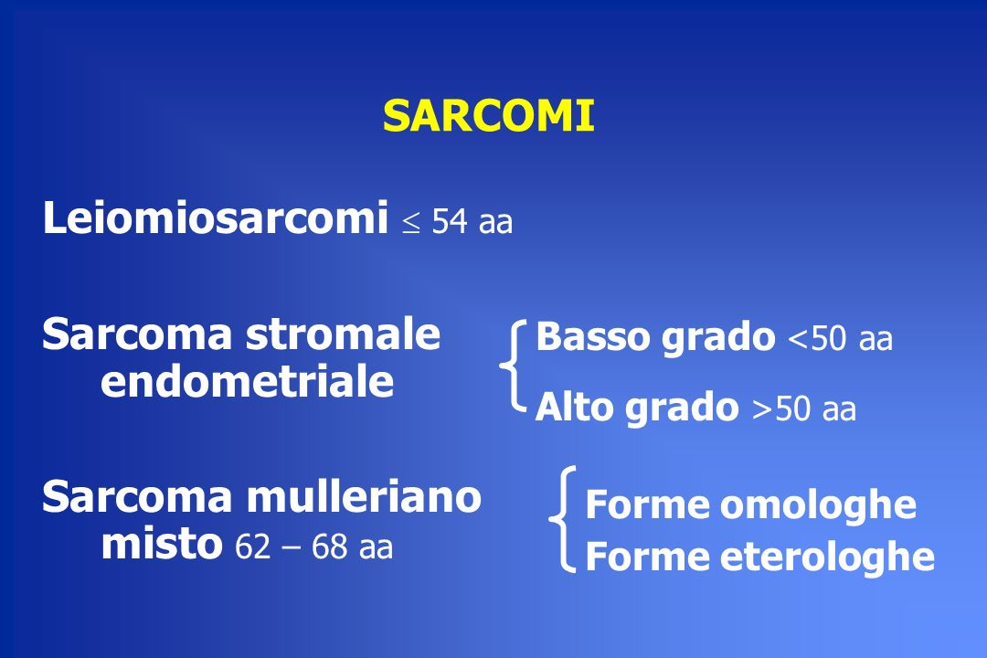 Sarcoma stromale endometriale