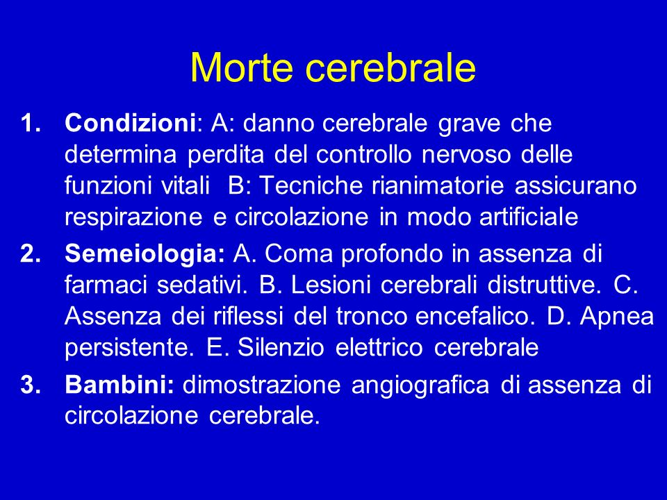 Morte cerebrale