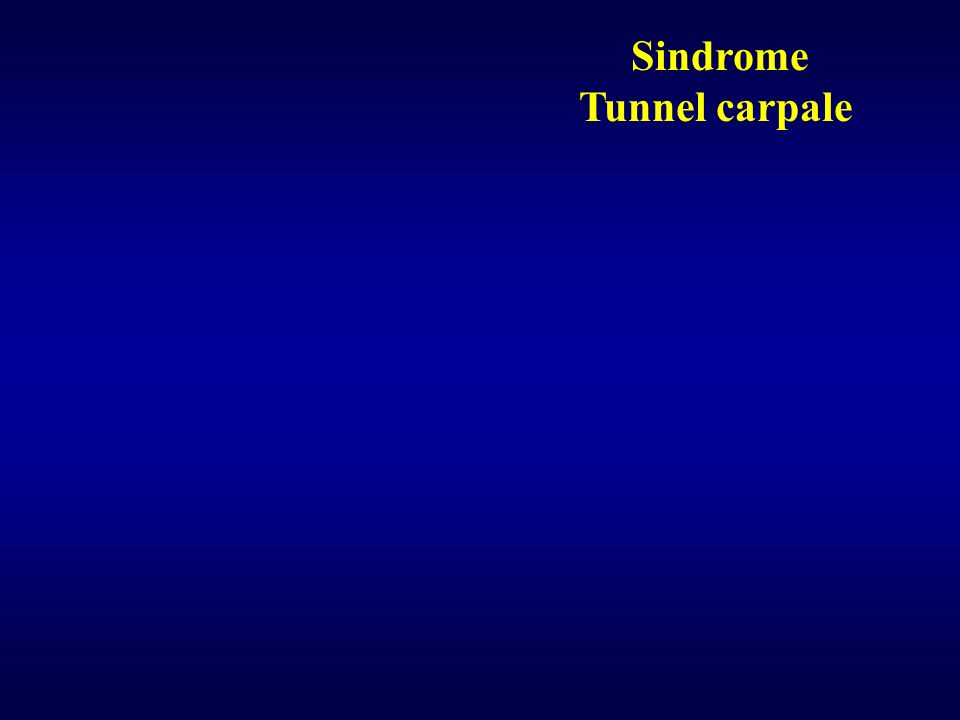 Sindrome Tunnel carpale