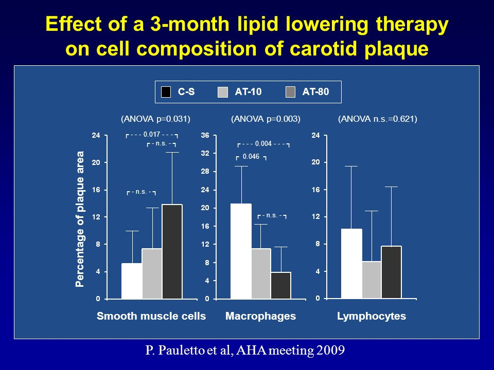 Effect of a 3-month lipid lowering therapy