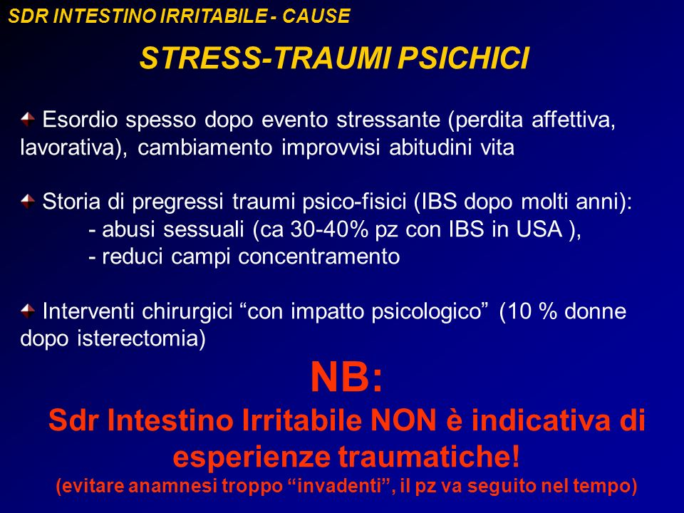 NB: STRESS-TRAUMI PSICHICI