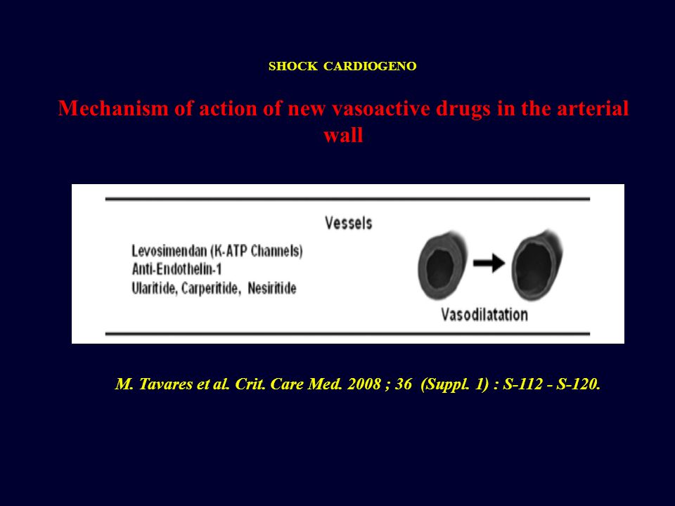 Mechanism of action of new vasoactive drugs in the arterial wall