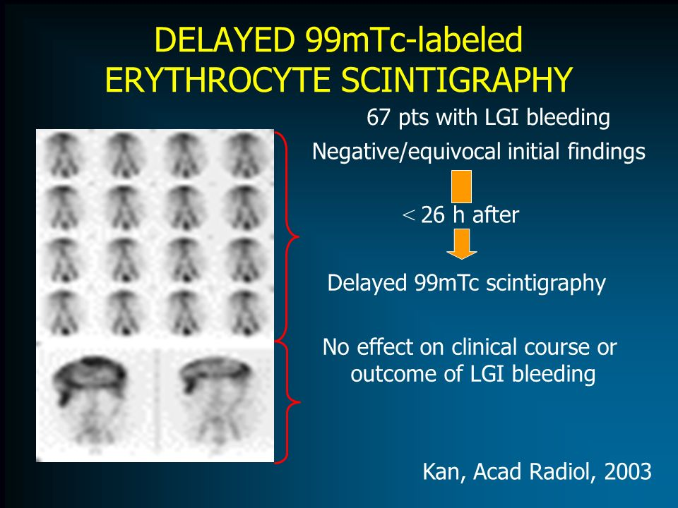 DELAYED 99mTc-labeled ERYTHROCYTE SCINTIGRAPHY