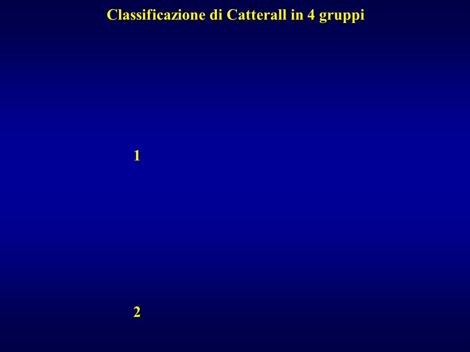 Classificazione di Catterall in 4 gruppi
