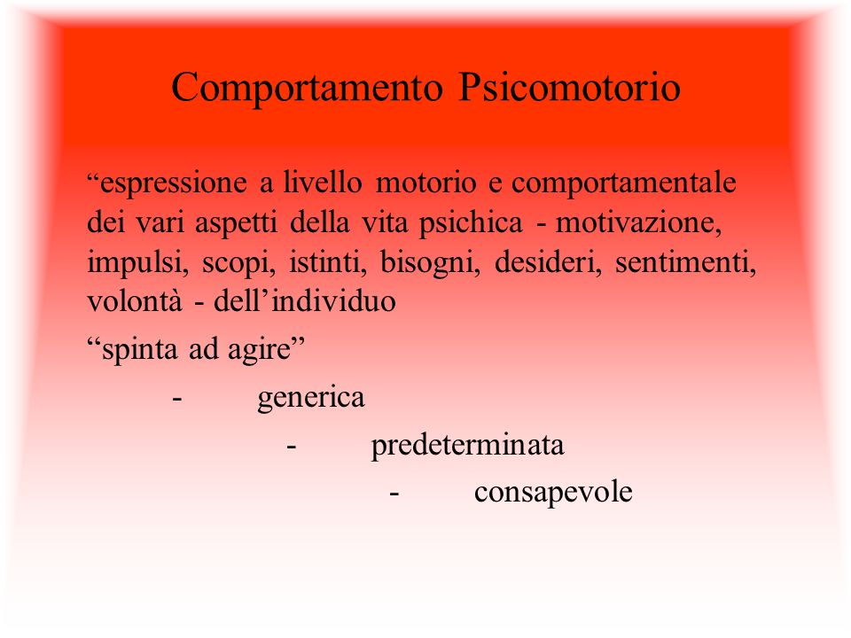 Comportamento Psicomotorio