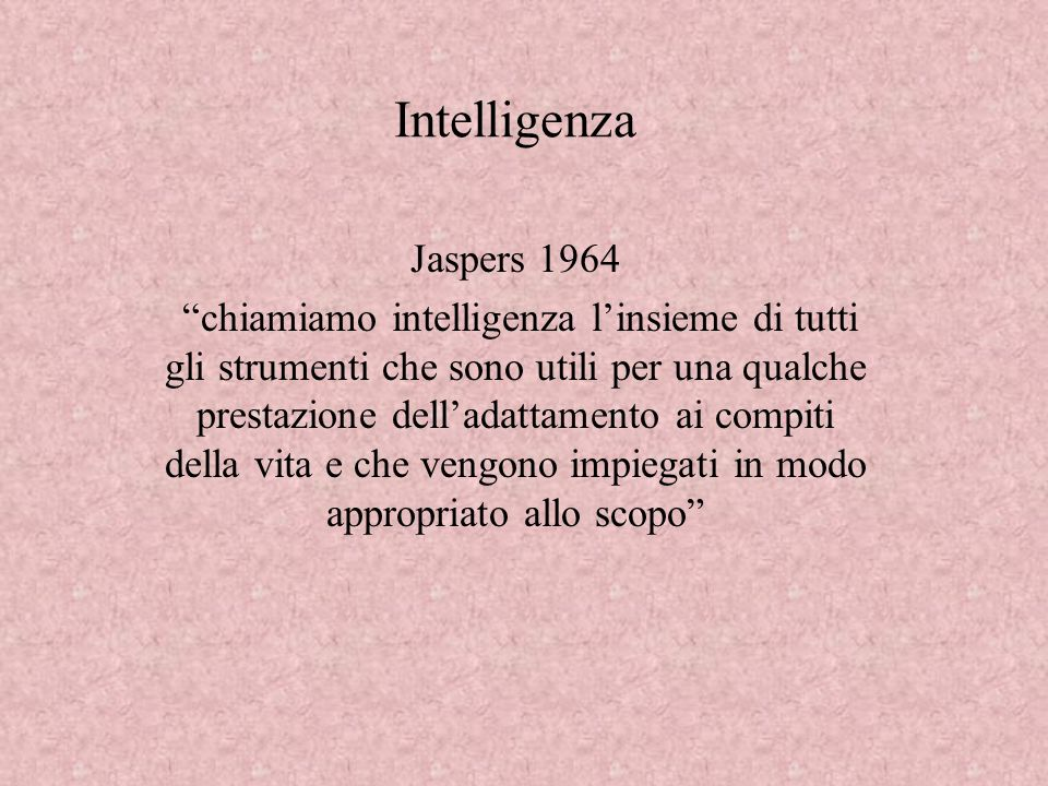 Intelligenza Jaspers