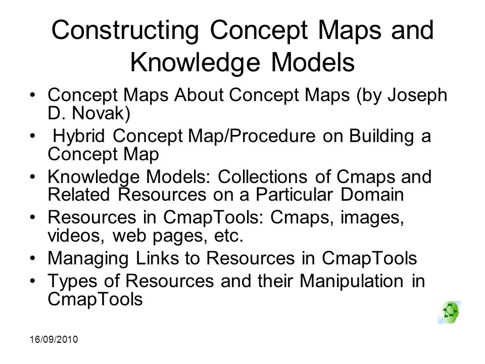 Constructing Concept Maps and Knowledge Models