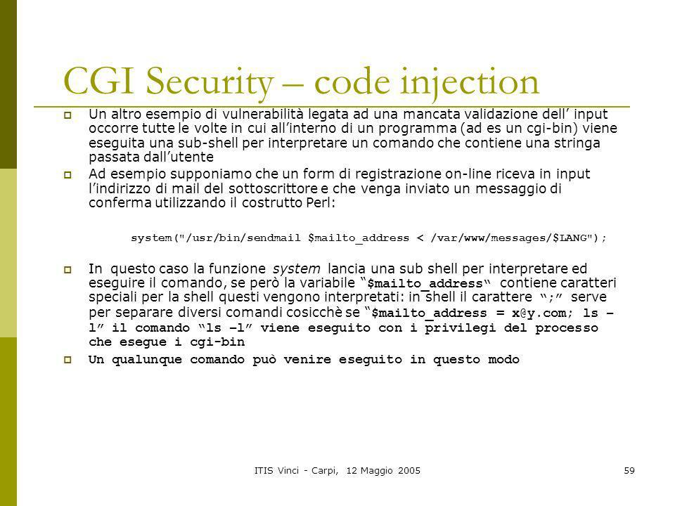 CGI Security – code injection