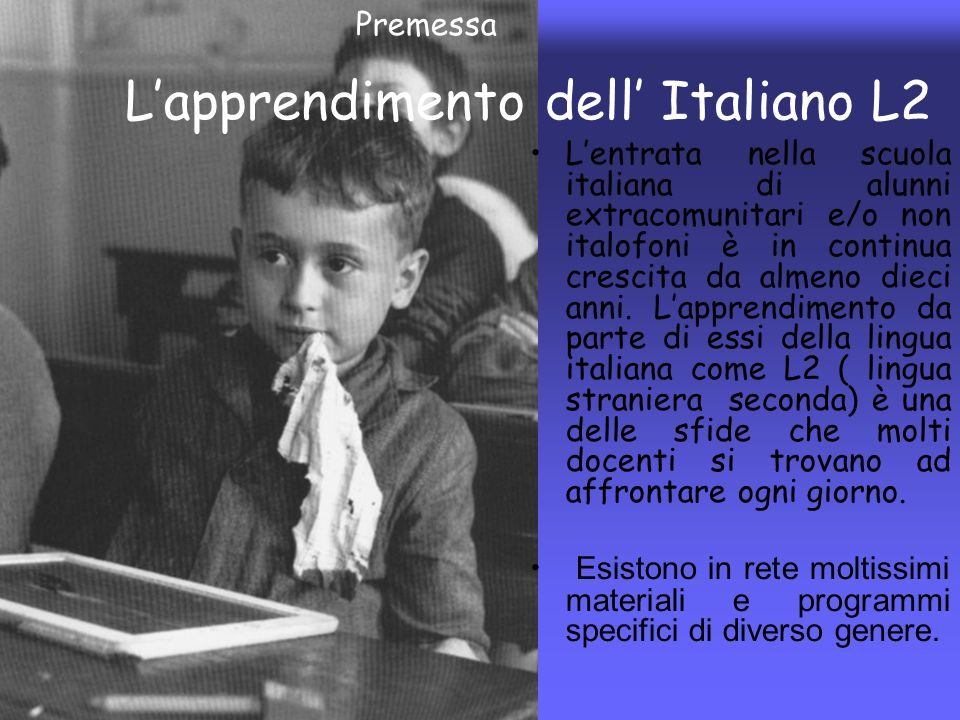 L'apprendimento dell' Italiano L2