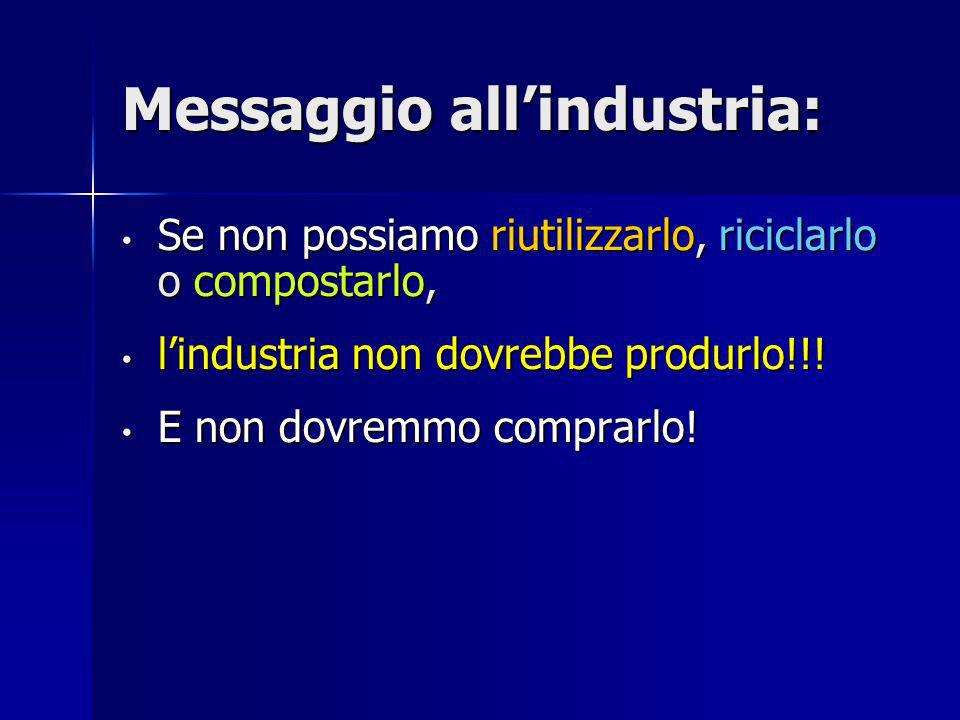 Messaggio all'industria: