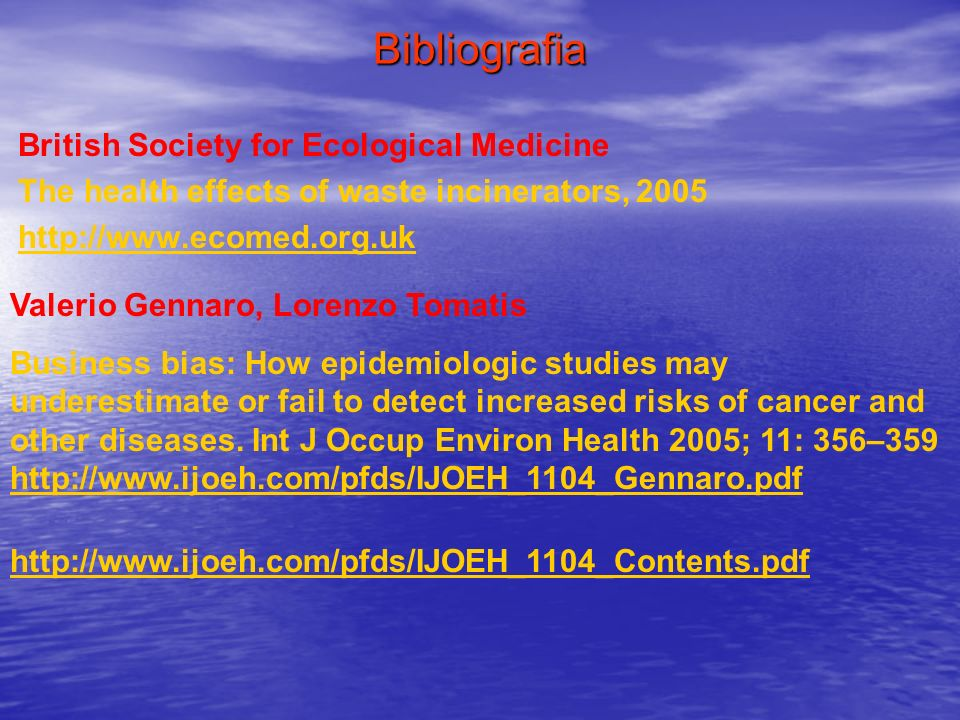 Bibliografia British Society for Ecological Medicine
