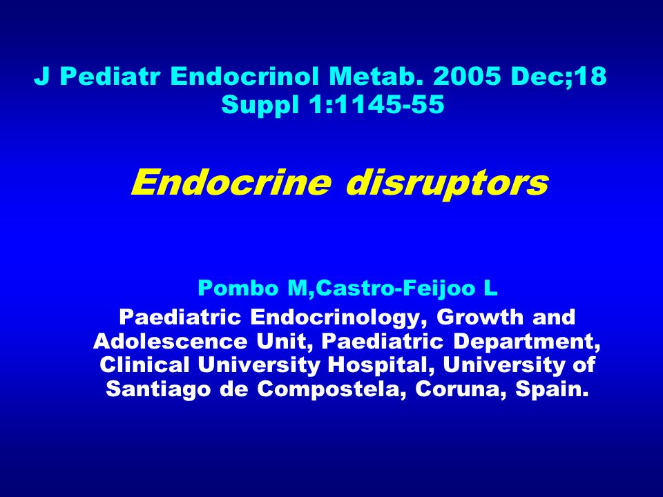 J Pediatr Endocrinol Metab Dec;18 Suppl 1:
