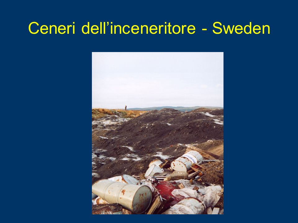 Ceneri dell'inceneritore - Sweden