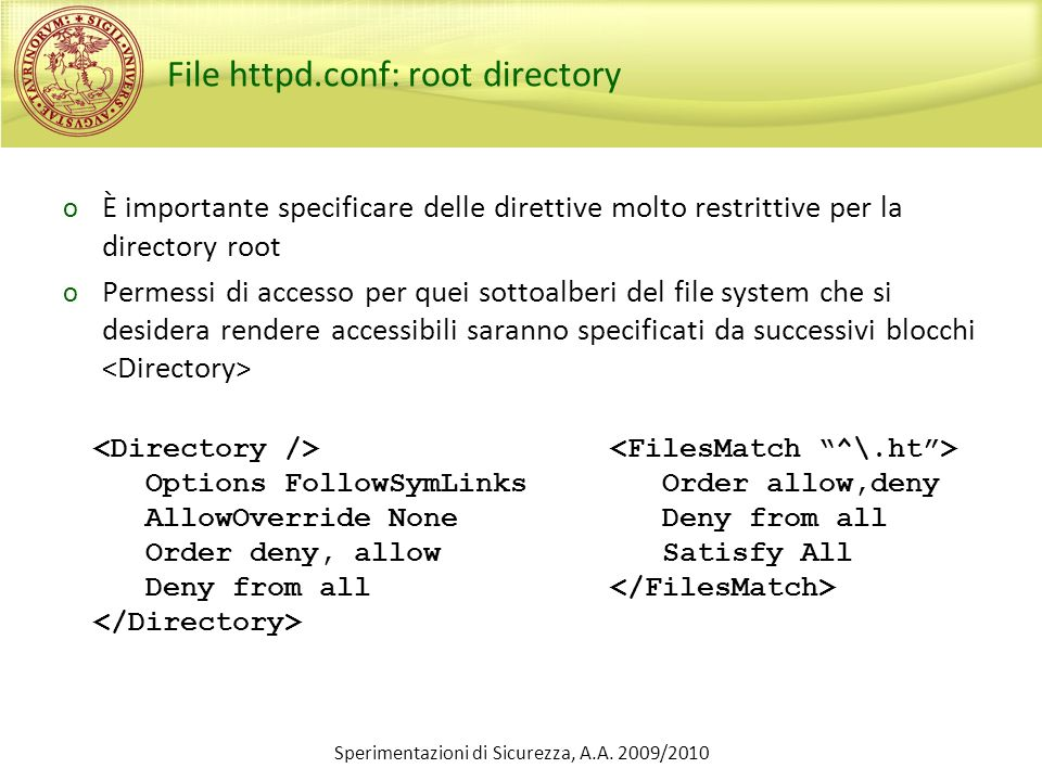 File httpd.conf: root directory