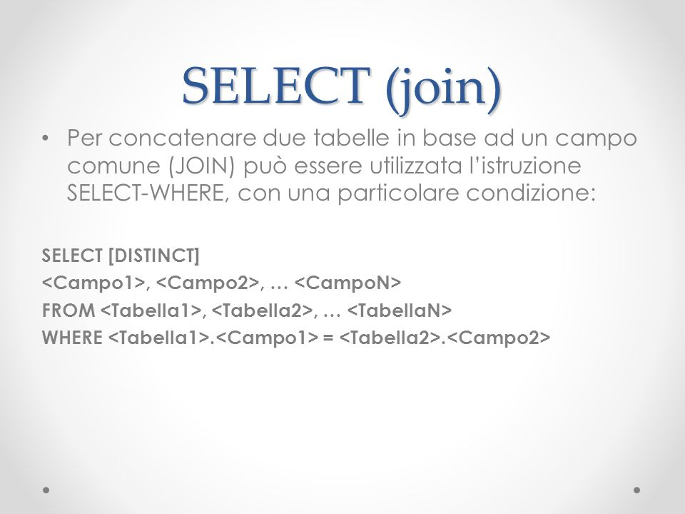 SELECT (join)