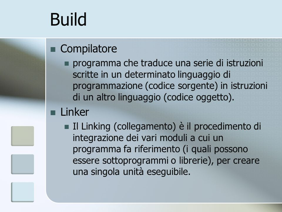Build Compilatore Linker