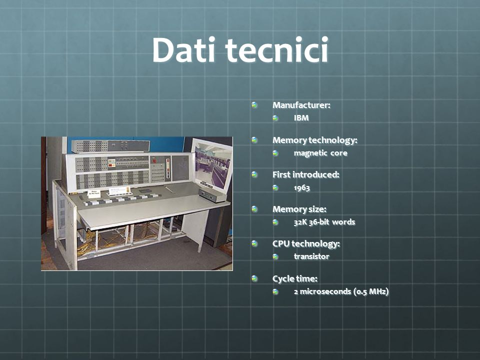 Dati tecnici Manufacturer: Memory technology: First introduced: