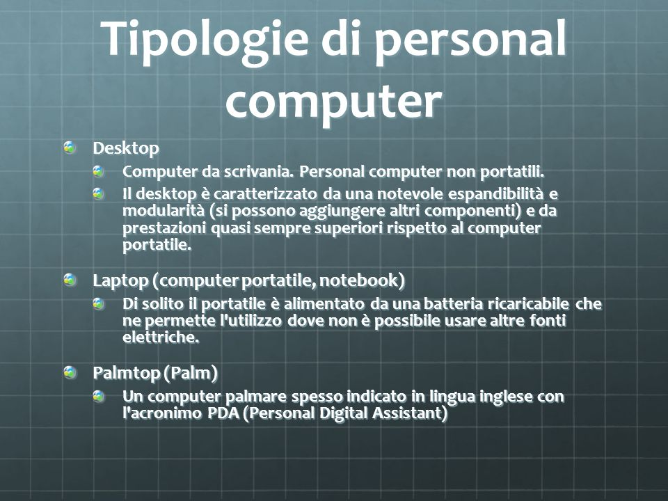 Tipologie di personal computer