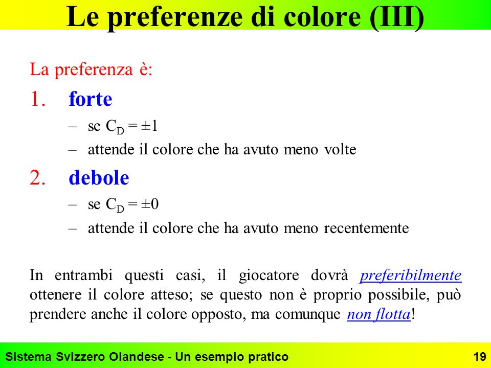 Le preferenze di colore (III)