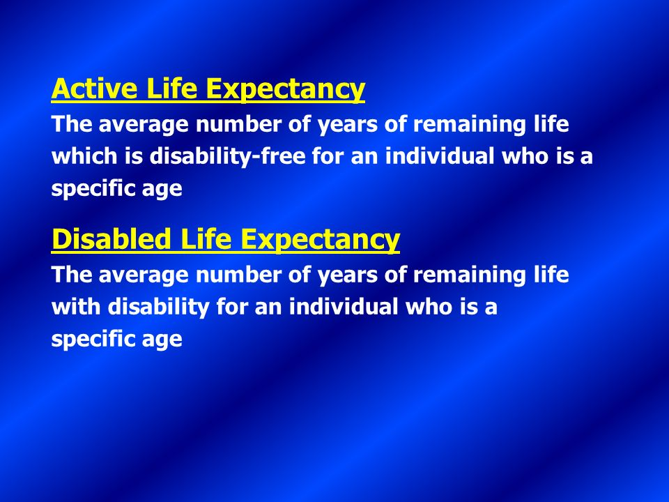Active Life Expectancy