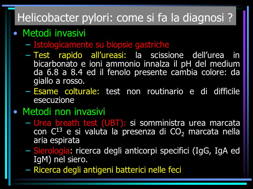 Helicobacter pylori: come si fa la diagnosi