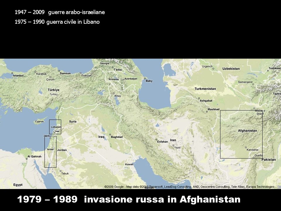 1979 – 1989 invasione russa in Afghanistan