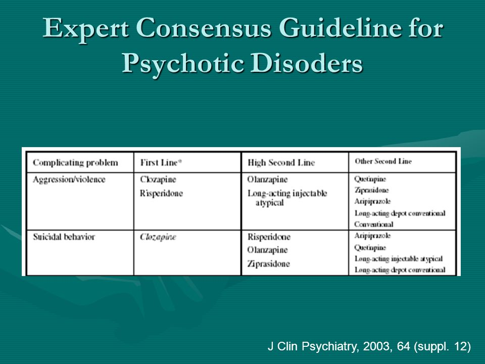Expert Consensus Guideline for Psychotic Disoders