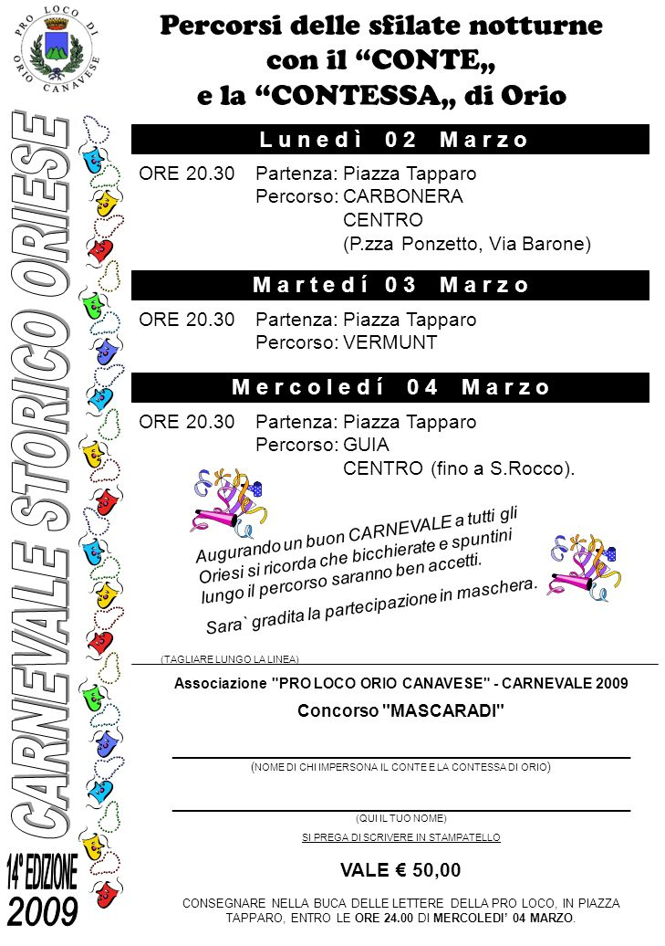 CARNEVALE STORICO ORIESE