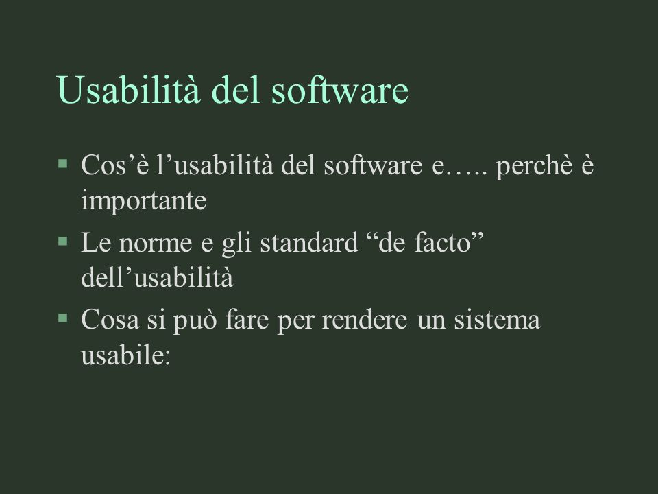 Usabilità del software