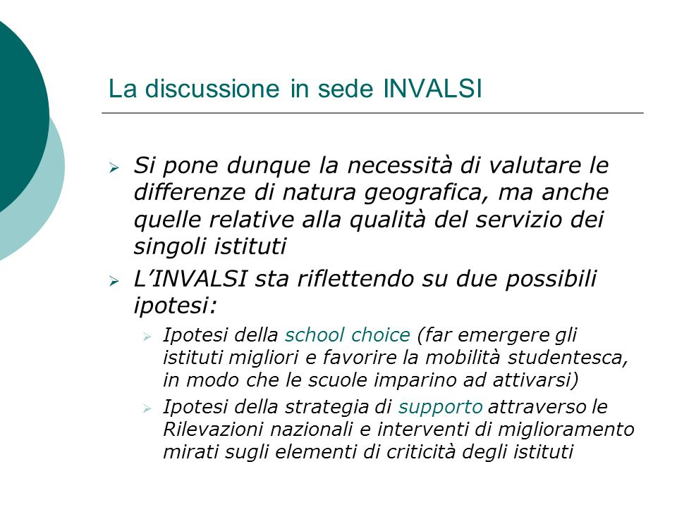 La discussione in sede INVALSI