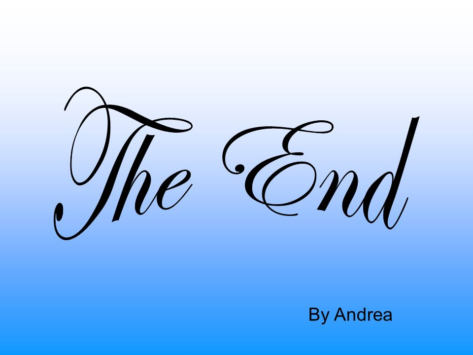 The End By Andrea