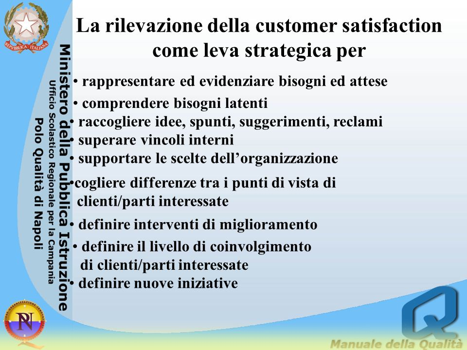 La rilevazione della customer satisfaction come leva strategica per