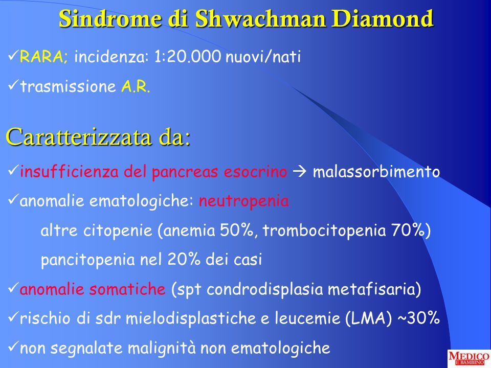 Sindrome di Shwachman Diamond