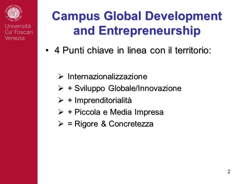 Campus Global Development and Entrepreneurship
