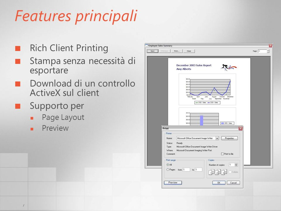 Features principali Rich Client Printing