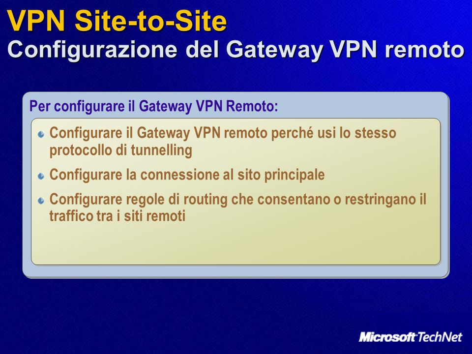 VPN Site-to-Site Configurazione del Gateway VPN remoto