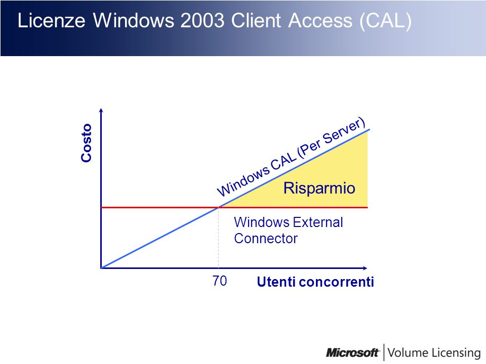 Licenze Windows 2003 Client Access (CAL)