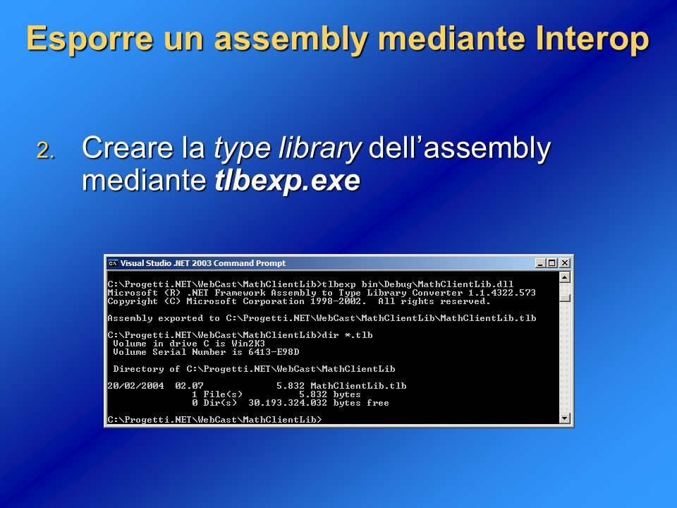 Esporre un assembly mediante Interop